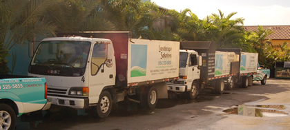 fleet of trucks landscape solutions